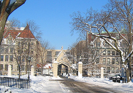College campus tours at cold weather schools