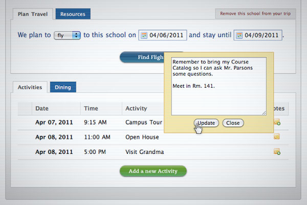 College Trip Planner Go See Campus